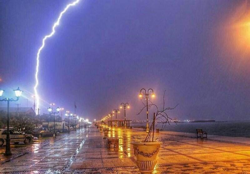 بارانی شدن آسمان استان بوشهر