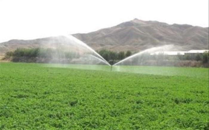 تجهیز مزارع دشتی به سامانه آبیاری نوین