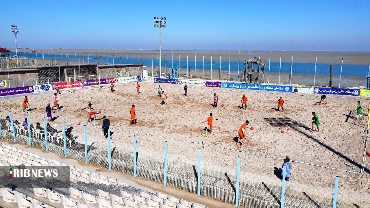 اردوی تیم ملی فوتبال سحلی در بوشهر