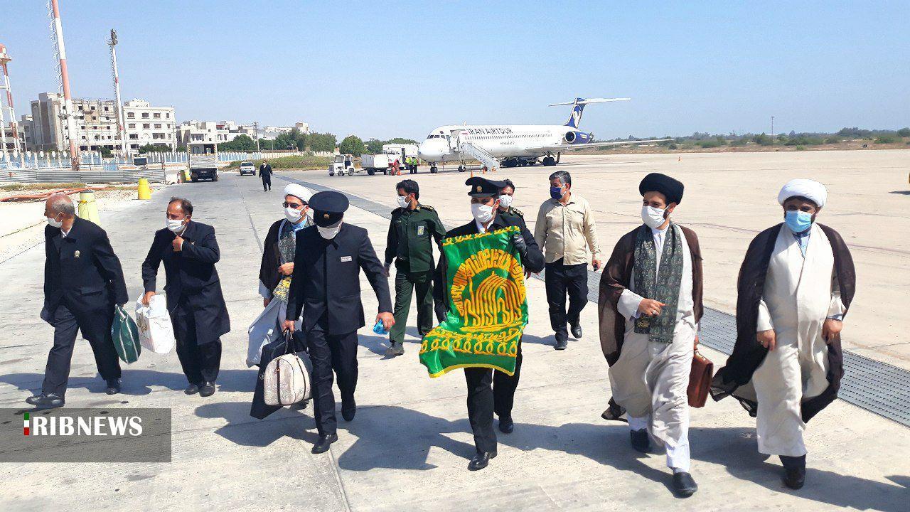 ورود خادمان آستان قدس رضوی به استان بوشهر